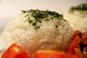 Csilis bab rizzsel