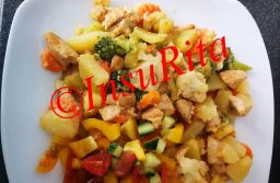 Zöldséges-burgonyás csirkemell