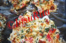 Csirkemell tojásos, sajtos, fűszeres masszával